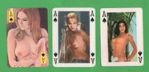 Vintage Aces of Spades playing cards selection pin up girls #084